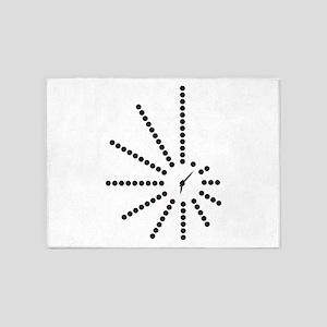 Morse Code Clock SOS! Radio Transmi 5'x7'Area Rug