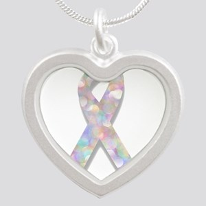 pearl lung cancer ribbon Necklaces