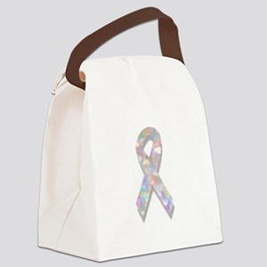 pearl lung cancer ribbon Canvas Lunch Bag