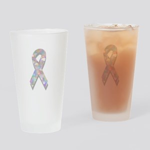 pearl lung cancer ribbon Drinking Glass