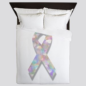 pearl lung cancer ribbon Queen Duvet