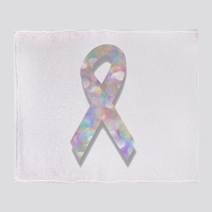 pearl lung cancer ribbon Throw Blanket
