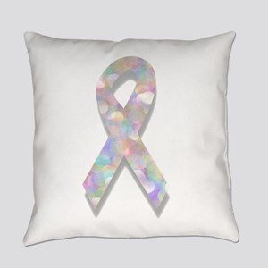 pearl lung cancer ribbon Everyday Pillow