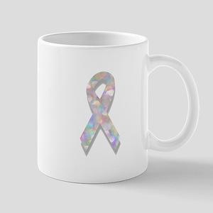pearl lung cancer ribbon Mugs