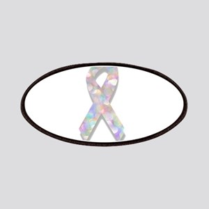 pearl lung cancer ribbon Patch
