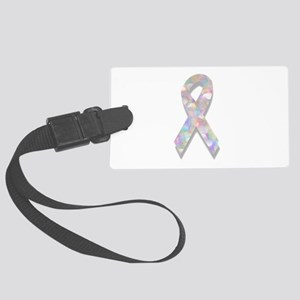 pearl lung cancer ribbon Large Luggage Tag