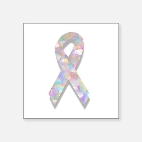 pearl lung cancer ribbon Sticker