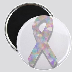 pearl lung cancer ribbon Magnets