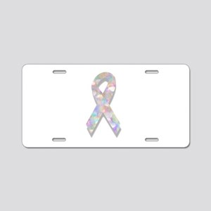 pearl lung cancer ribbon Aluminum License Plate
