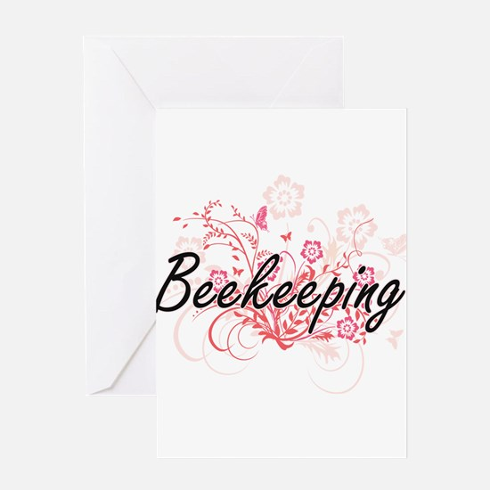 Beekeeping Artistic Design with Flo Greeting Cards
