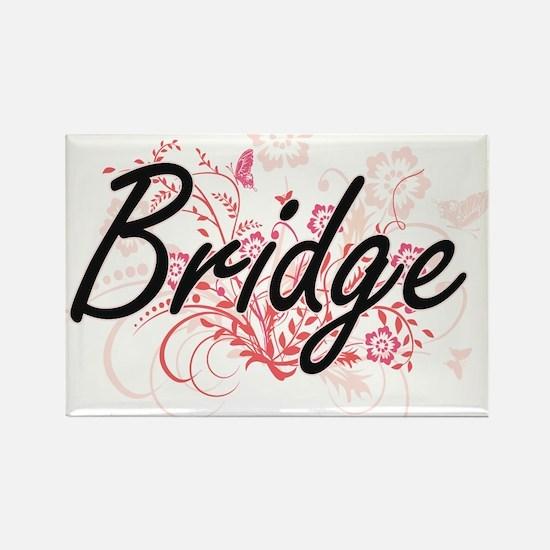Bridge Artistic Design with Flowers Magnets