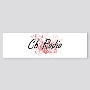 Cb Radio Artistic Design with Flowe Bumper Sticker