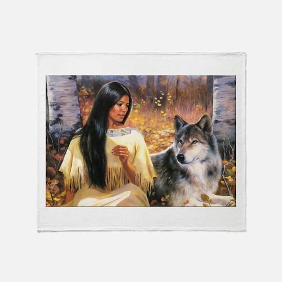 Grey Wolf.jpg Throw Blanket