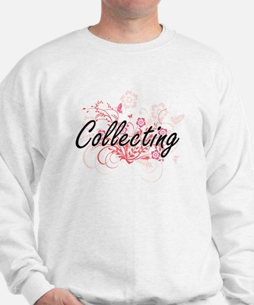 Collecting Artistic Design with Flowers Sweatshirt