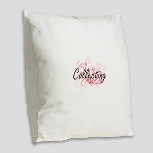 Collecting Artistic Design wit Burlap Throw Pillow