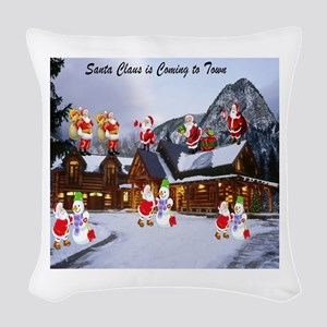 Santa Claus is Coming to Town large Woven Throw Pi