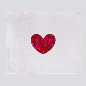 Ethereal Heart Valentines Day Helen' Throw Blanket