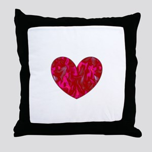 Ethereal Heart Valentines Day Helen's Throw Pillow