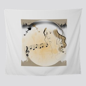 Music girl Wall Tapestry