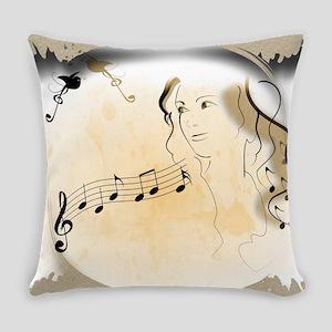 Music girl Everyday Pillow