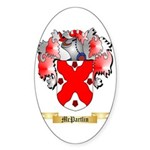 McPartlin Sticker (Oval 50 pk)