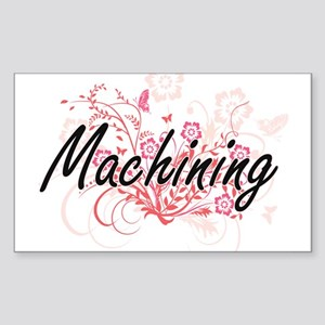 Machining Artistic Design with Flowers Sticker