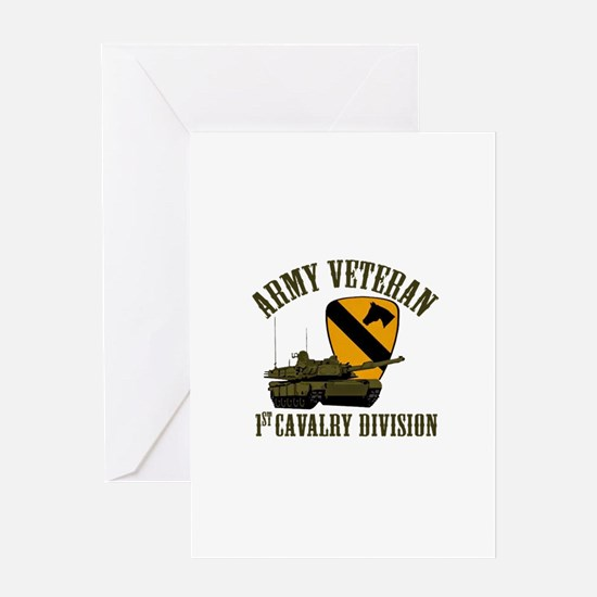 1ST Cavalry Division Veteran Greeting Cards