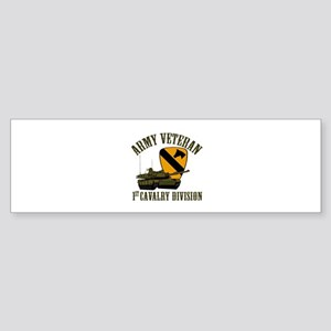 1ST Cavalry Division Veteran Bumper Sticker