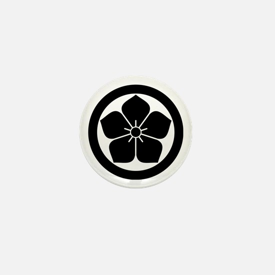 Balloonflower in circle Mini Button