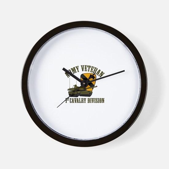 1ST Cavalry Division Veteran Wall Clock