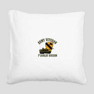 1ST Cavalry Division Veteran Square Canvas Pillow