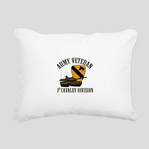 1ST Cavalry Division Vet Rectangular Canvas Pillow