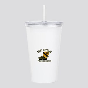 1ST Cavalry Division V Acrylic Double-wall Tumbler