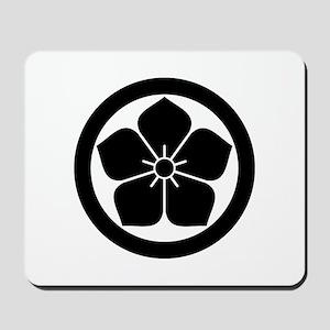 Balloonflower in circle Mousepad