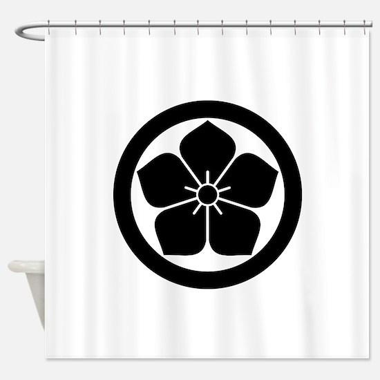 Balloonflower in circle Shower Curtain
