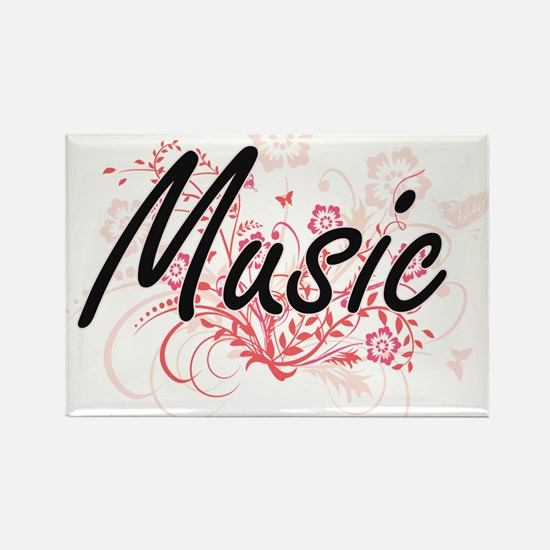 Music Artistic Design with Flowers Magnets