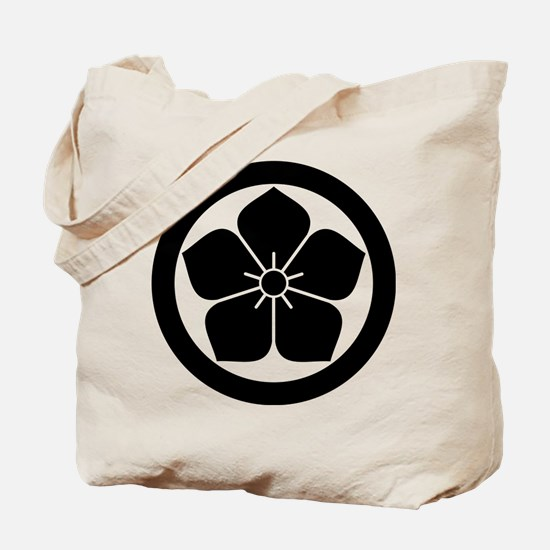 Balloonflower in circle Tote Bag