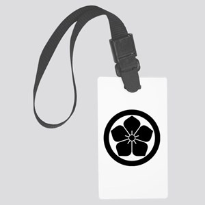 Balloonflower in circle Luggage Tag