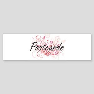 Postcards Artistic Design with Flow Bumper Sticker