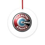 Charlton Movie 3D Logo Round Ornament