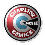 Charlton Movie 3D Logo Round Car Magnet