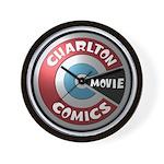 Charlton Movie 3D Logo Wall Clock