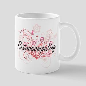 Retrocomputing Artistic Design with Flowers Mugs