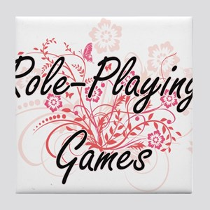 Role-Playing Games Artistic Design wi Tile Coaster