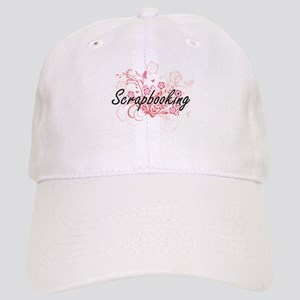 Scrapbooking Artistic Design with Flowers Cap