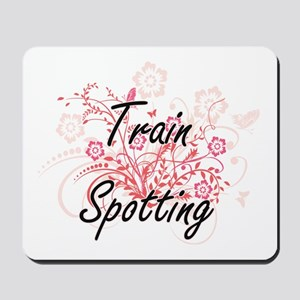 Train Spotting Artistic Design with Flow Mousepad