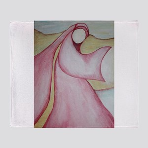 "Mary Magdalene; ""The Wayshower"" Throw Blanket"