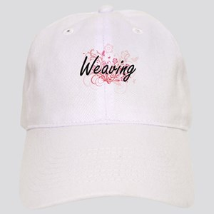 Weaving Artistic Design with Flowers Cap