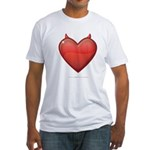 Devil Heart Fitted T-Shirt