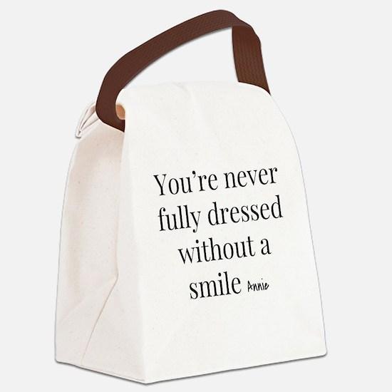 Unique Smile Canvas Lunch Bag